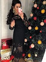 Гипюровое платье с фатиновой юбкой