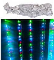 Гирлянда светодиодная новогодняя цветная Штора Дождик 240 LED 3.2 x 2м