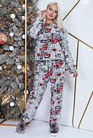 """Махровый женский комплект-пижама """"LOVELY"""" с длинным рукавом"""