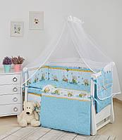 Комплект детской постели Twins Comfort New Медуны 7 эл С-111, голубой (8471)