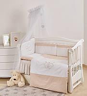 Детская постель Twins Evolution I love 7 эл А-038, белая (8615)