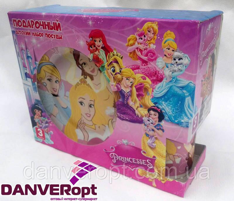 Посуда детская PRINCESS подарочный набор 3ка купить оптом со склада 7км Одесса