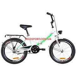 Складной велосипед Formula Smart 20 дюймов с фонарём бело-зеленый