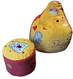 Бескаркасное кресло груша, пуф мешок игровой для детей мишка Тедди, фото 7
