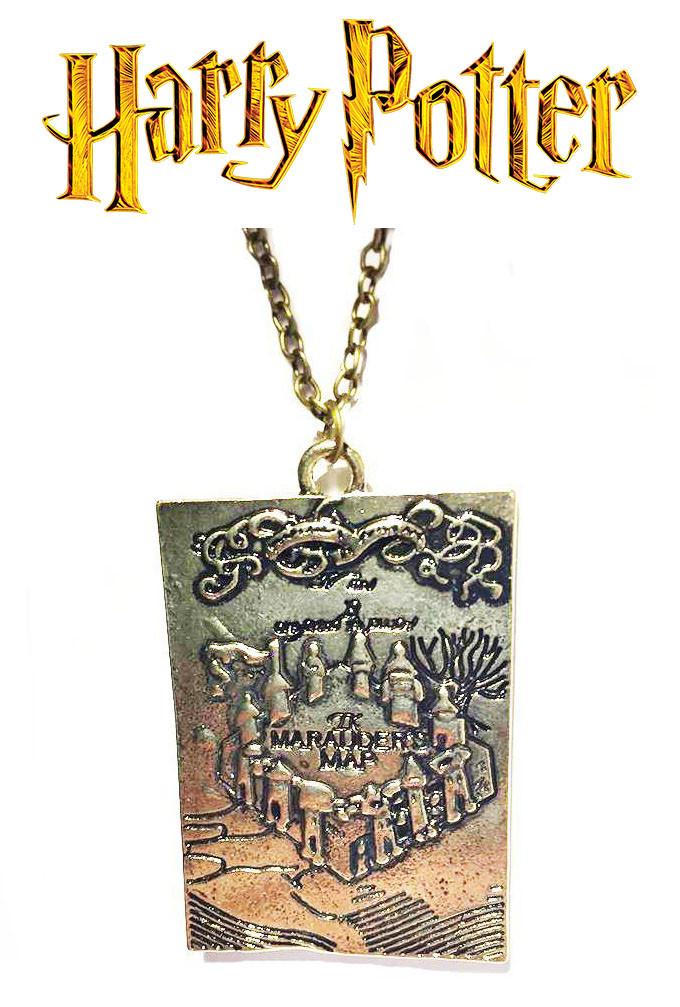 Кулон карта Мародеров Гарри Поттер Harry Potter