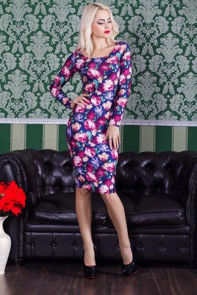 Платье женское с принтом