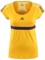 Футболка спортивная женская adidas W barricade Caps W64115 (желтая, для тренировок и на каждый день, адидас), фото 1