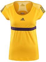 Футболка спортивная женская adidas W barricade Caps W64115 (желтая, для тренировок и на каждый день, адидас)