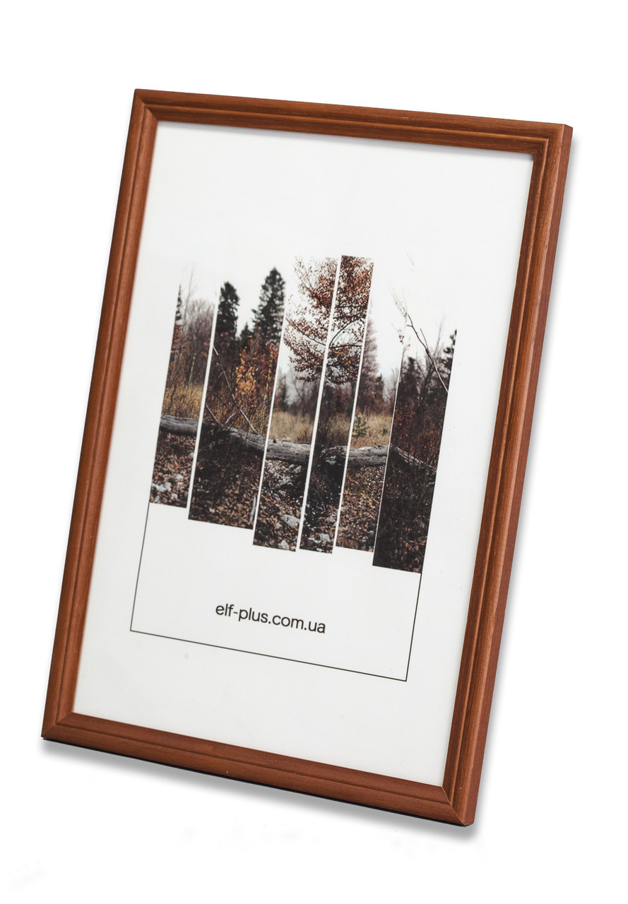 Рамка а4 из дерева - Дуб коричневый 1,5 см - со стеклом