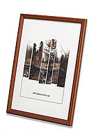 Рамка а4 из дерева - Дуб коричневый 1,5 см - со стеклом, фото 1