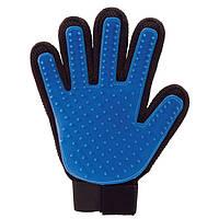 Перчатка щётка резиновая для вычесывания шерсти True Touch