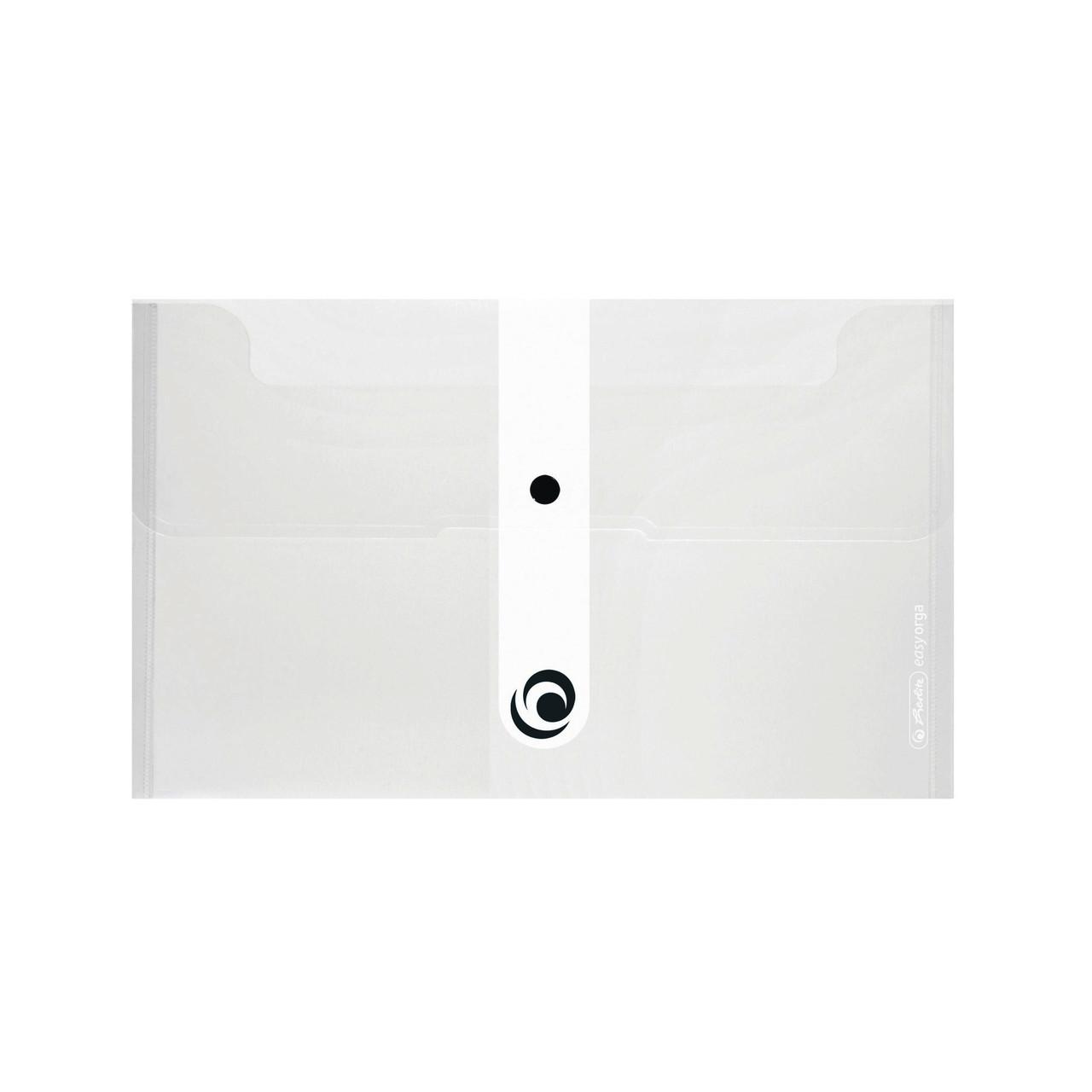Папка на кнопке Herlitz 22.5x13см 200мкм Easy Orga To Go голубая полупрозрачная (11207081)