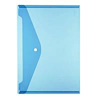 Папка на кнопке Herlitz А4 200мкм голубая прозрачная (10657948)