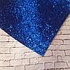 Экокожа крупный блеск 20 х 34 см, 10 листов/уп., синий новинка оптом
