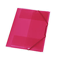 Папка на резинке Herlitz А4 малиновая прозрачная (10092856)