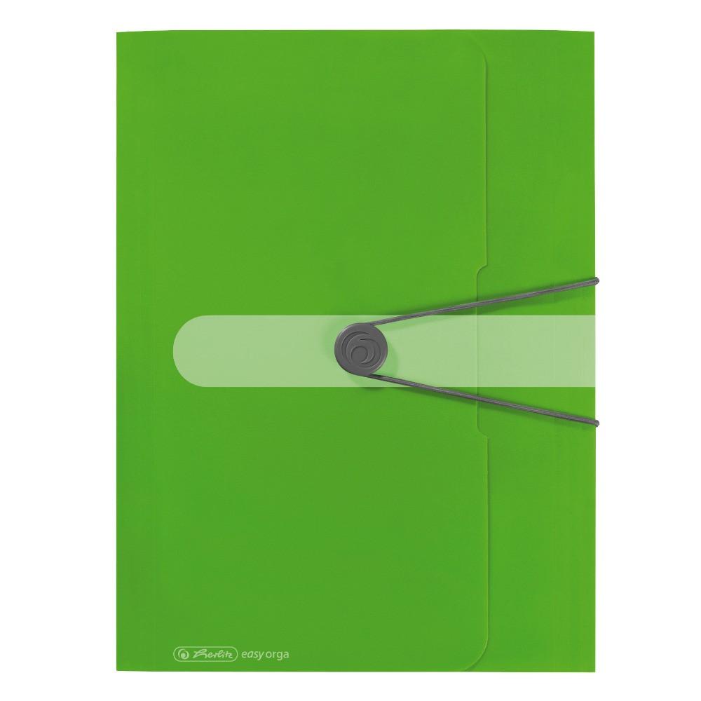 Папка на резинке Herlitz А4 Easy To Go салатовая (11206000)