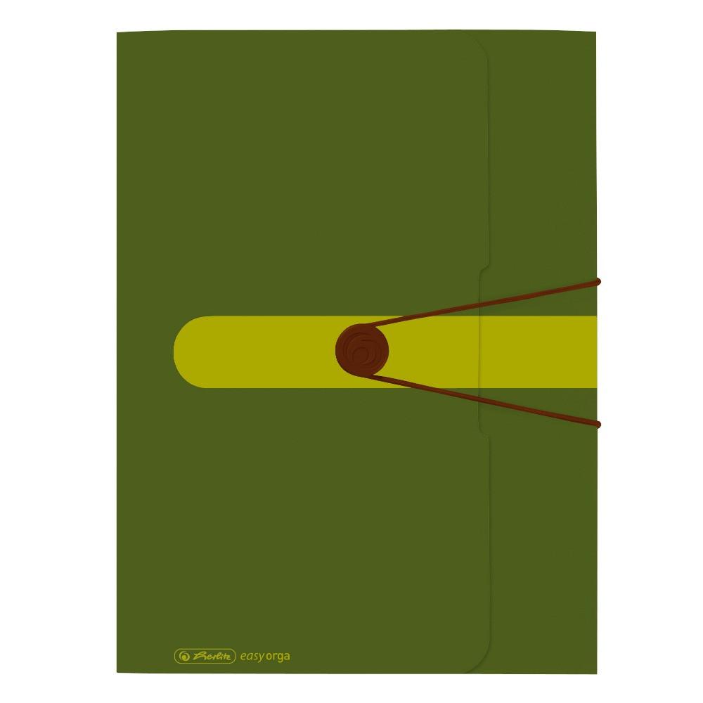 Папка на резинке Herlitz А4 Easy To Go Green зеленая (11282530)