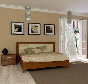 Ліжко з ДСП/МДФ в спальню Белла 1,6х2,0 з каркасом ваніль Миро-Марк