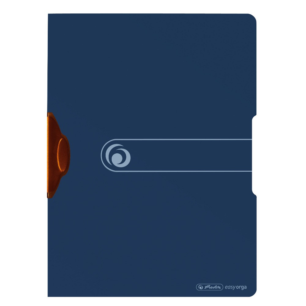 Папка с клипом Herlitz А4 Easy Orga To Go Express-Clip Green темно-синяя (11282571)