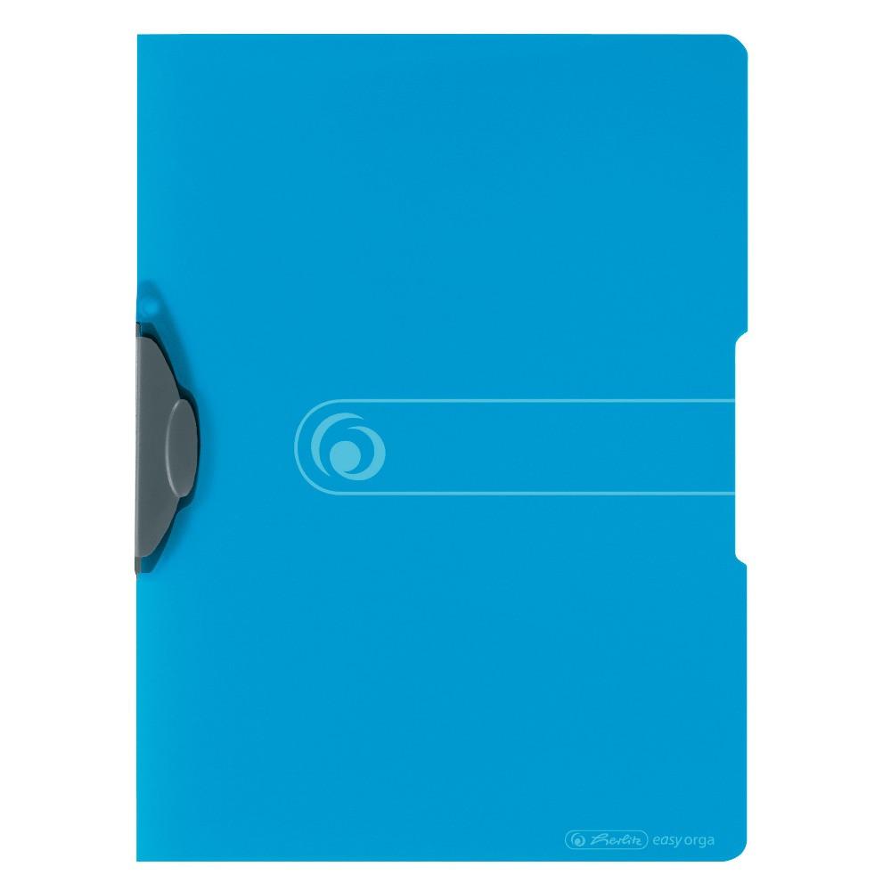 Папка с клипом Herlitz А4 Easy Orga To Go Express-Clip голубая полупрозрачная (11206455)