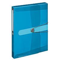 Папка-бокс на резинці Herlitz А4 4см Easy Orga To Go блакитна напівпрозора (11206141)
