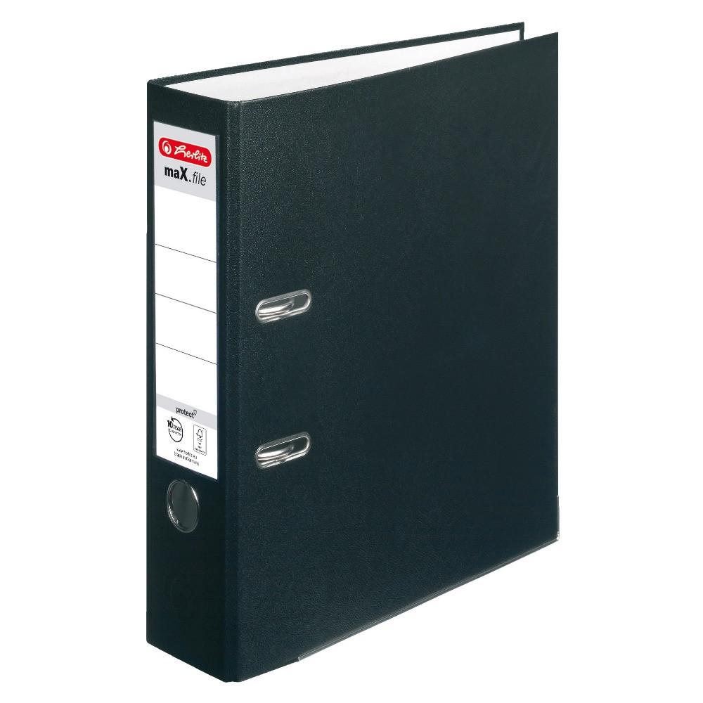 Папка-регистратор Herlitz А4 8см Protect черная (5480801)