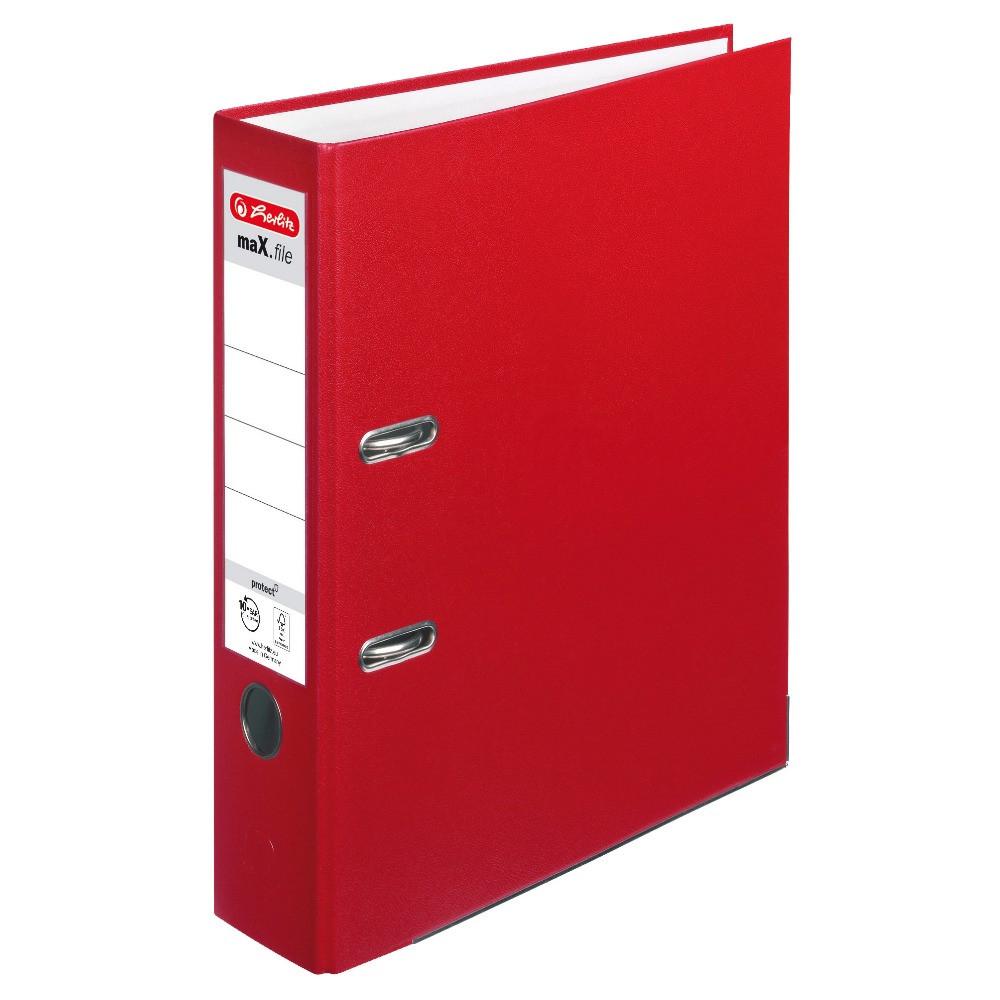 Папка-регистратор Herlitz А4 8см Protect красная (5480306)