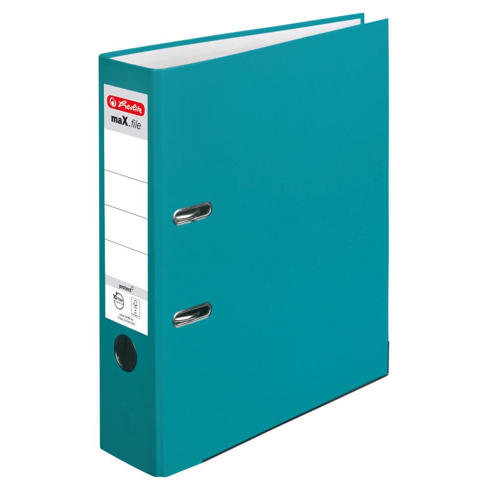 Папка-регистратор Herlitz А4 8см Protect бирюзовая (50015931)