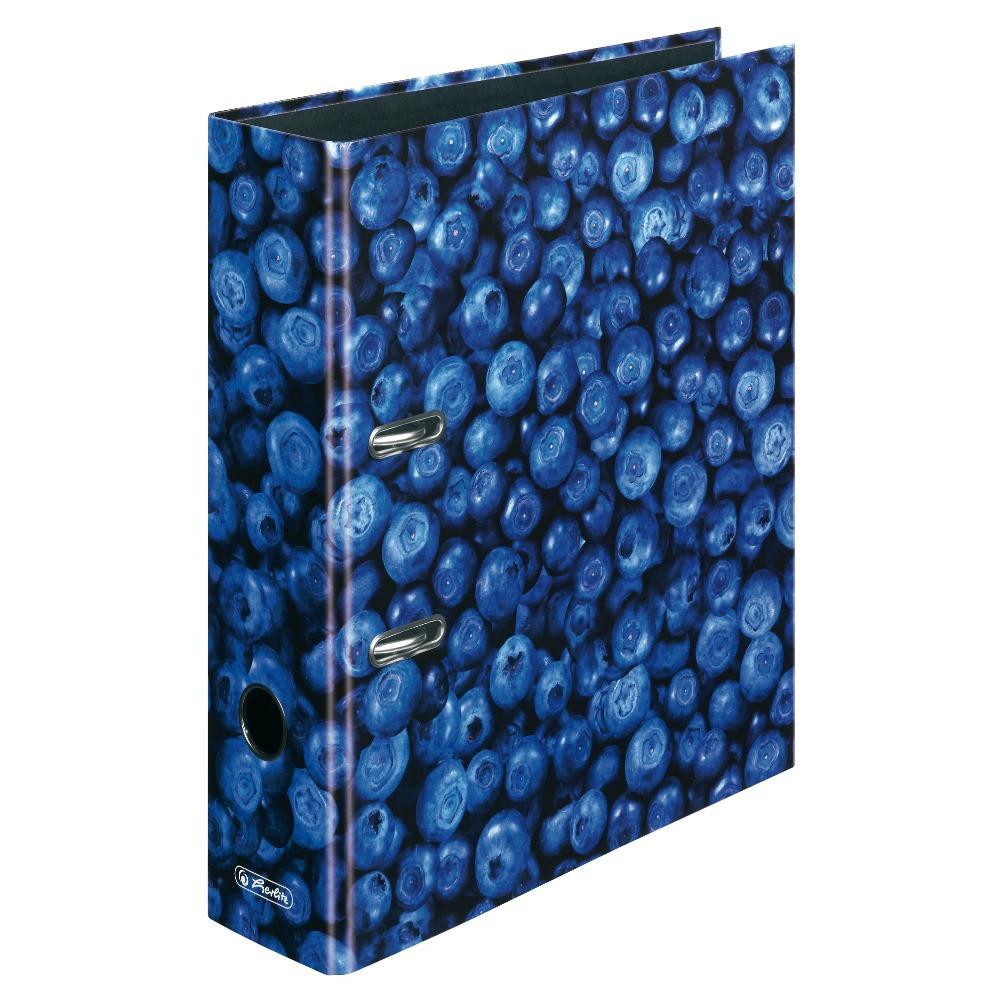 Папка-регистратор Herlitz А4 8см World of Fruit Blueberry  (11080660)