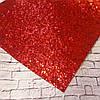 Экокожа крупный блеск 20 х 34 см, 10 листов/уп., красный новинка оптом