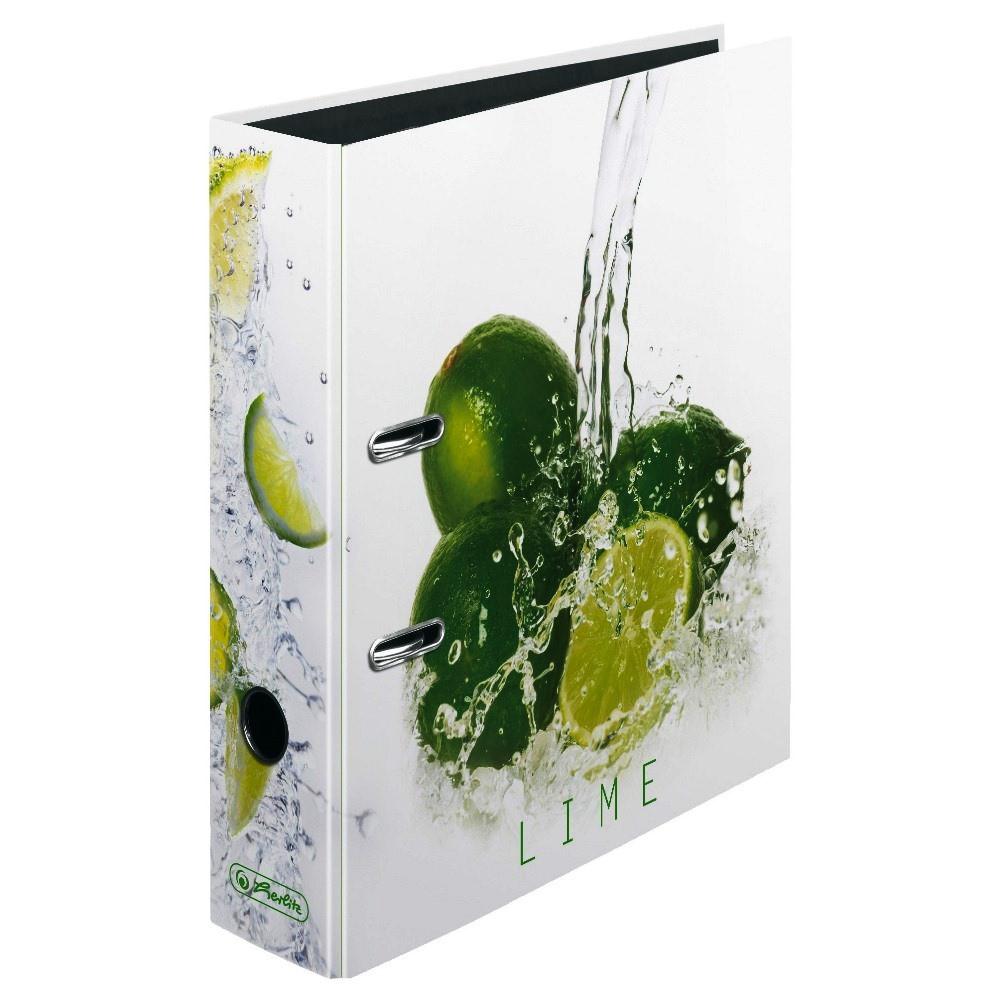 Папка-регистратор Herlitz А4 8см Fresh Fruit Lime  (11306008)