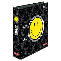 Папка-регистратор Herlitz А4 8см Smiley World Black&Yellow Faces  (50016013), фото 1