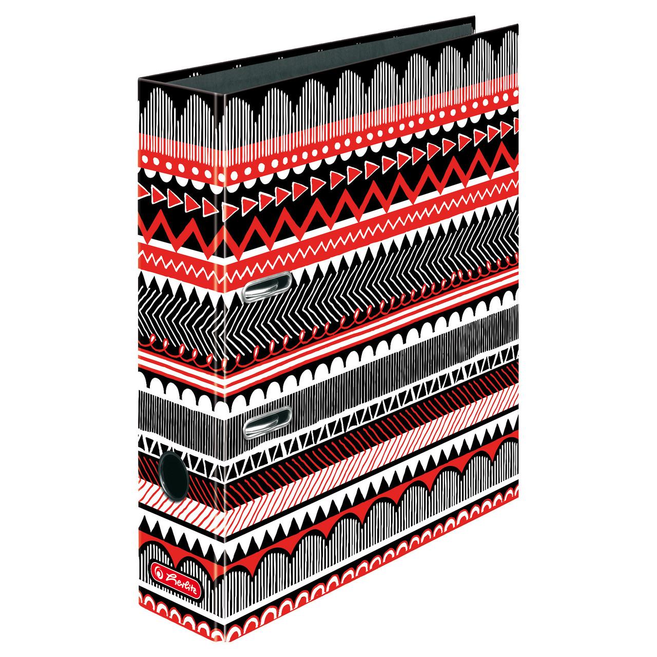 Папка-регистратор Herlitz А4 8см Black & Wow Ethno (50010004)