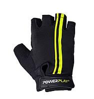 Перчатки для фитнеса черно/желтые (Польша)  размер  S, M, L, фото 1