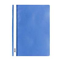 Папка-скоросшиватель Herlitz А4 130/160мкм с прозрачным верхом синяя (975441)