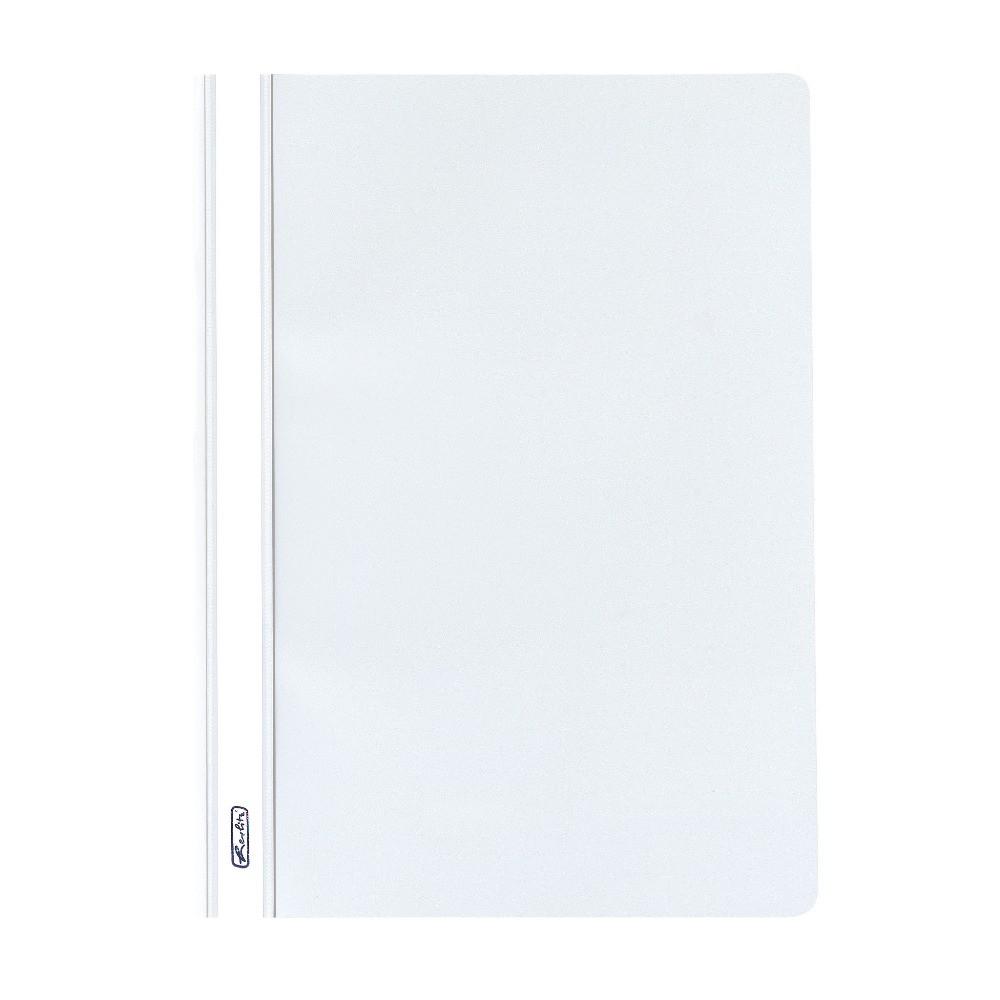 Папка-скоросшиватель Herlitz А4 130/160мкм с прозрачным верхом белая (976472)