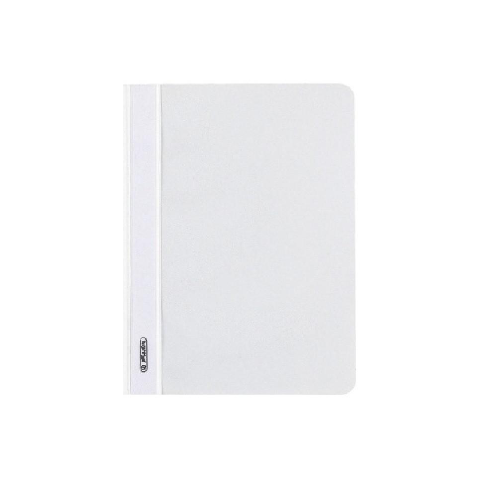 Папка-скоросшиватель Herlitz А5 130/160мкм с прозрачным верхом белая (11256641)