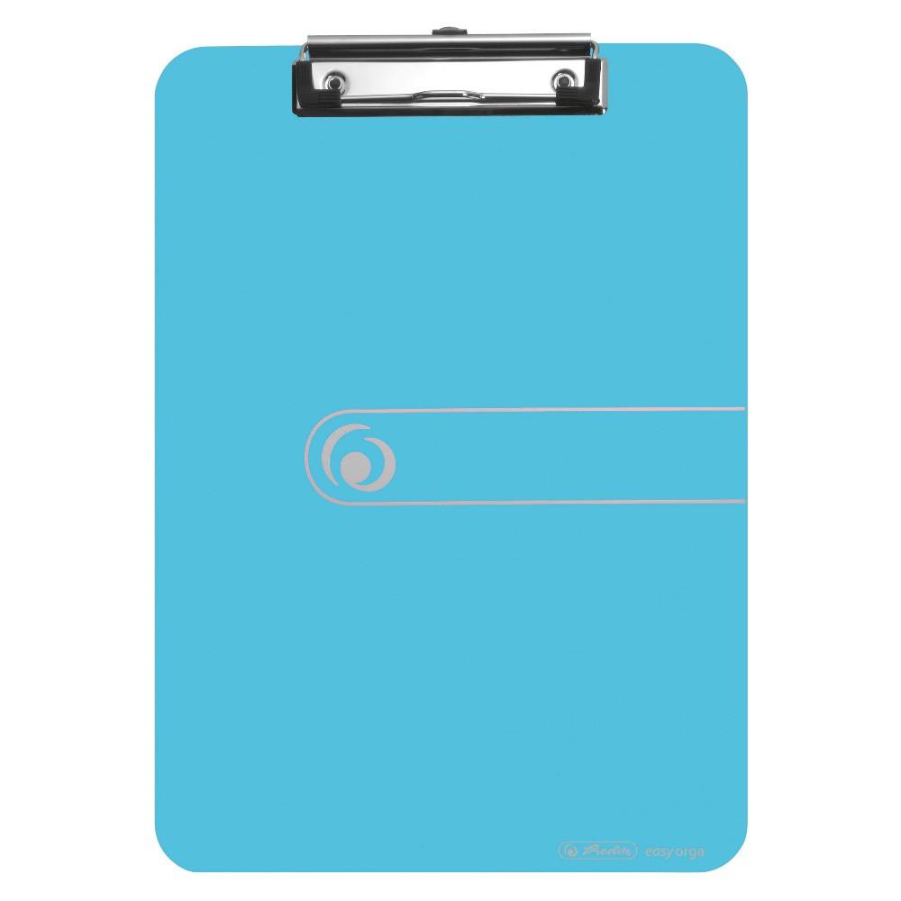 Планшет-клипборд Herlitz А4 Easy Orga To Go полистирол голубой прозрачный (11205671)
