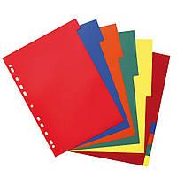 Разделители пластиковые цветные Herlitz А4 10шт 5цв (10715415)