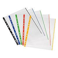 Файлы Herlitz А4 70мкм 10шт глянцевые прозрачные с цветным корешком (10914422), фото 1