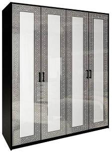 Шафа (шкаф) з ДСП/МДФ в спальню/вітальню/дитячу білий Віола 4Д без дзеркал Миро-Марк