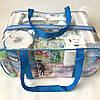 Набор из 2 прозрачных сумок в роддом Mommy Bag - S,L - Синие, фото 2