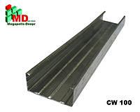 Гипсокартонный профиль CW100, трехметровый