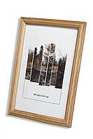 Рамка а4 из дерева - Дуб светлый 2,2 см - со стеклом, фото 1