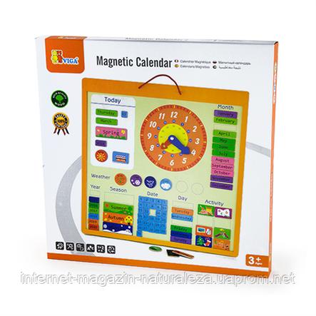 Магнітний календар Viga Toys, фото 2