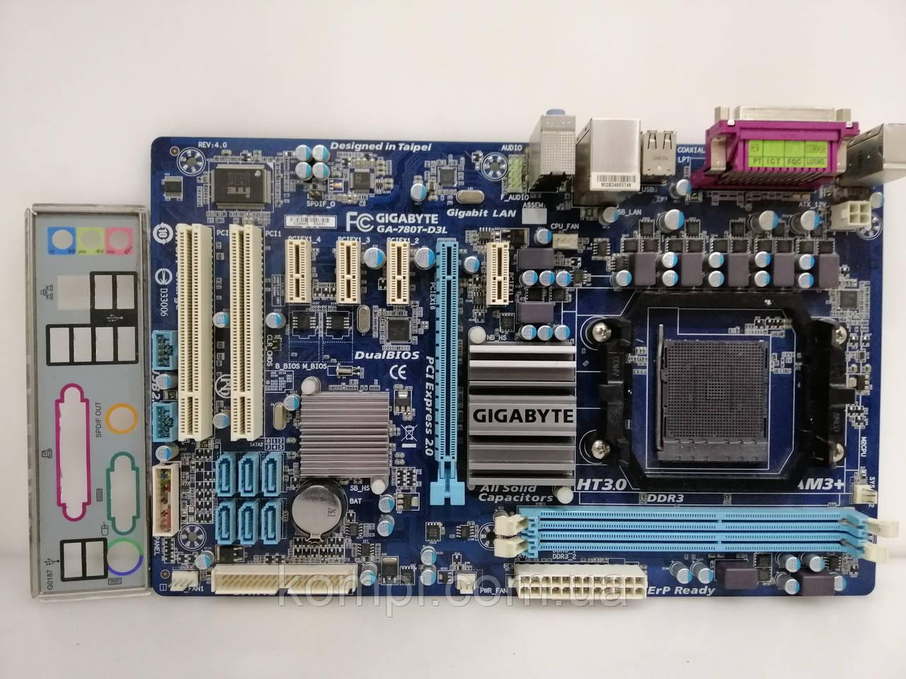 Материнская плата Gigabyte GA 780T-D3L AM3/AM3+  AMD FX DDR3