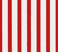 Ткань в полоску красно-белая, № stripe-red-3, хлопок 100%