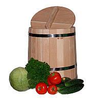 Кадка для солений дубовая, 15 л (УБМ)