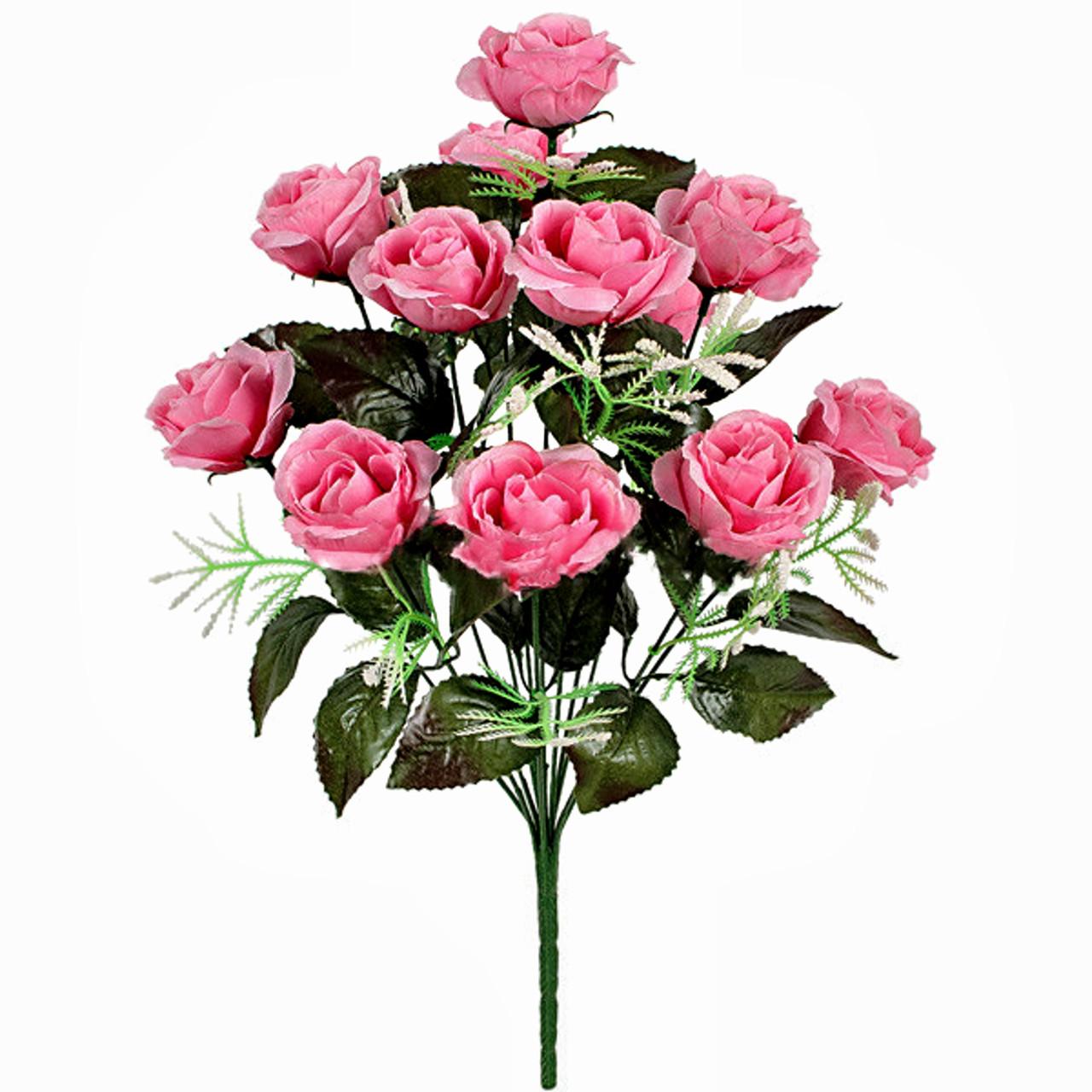 Букет искусственная роза, 47см (20 шт. в уп.)