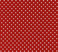 Ткань в мелкий горошек красно-белая, № dot-red-1, хлопок 100%